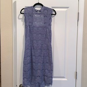 Free People Daydream lavender blue bodycon dress